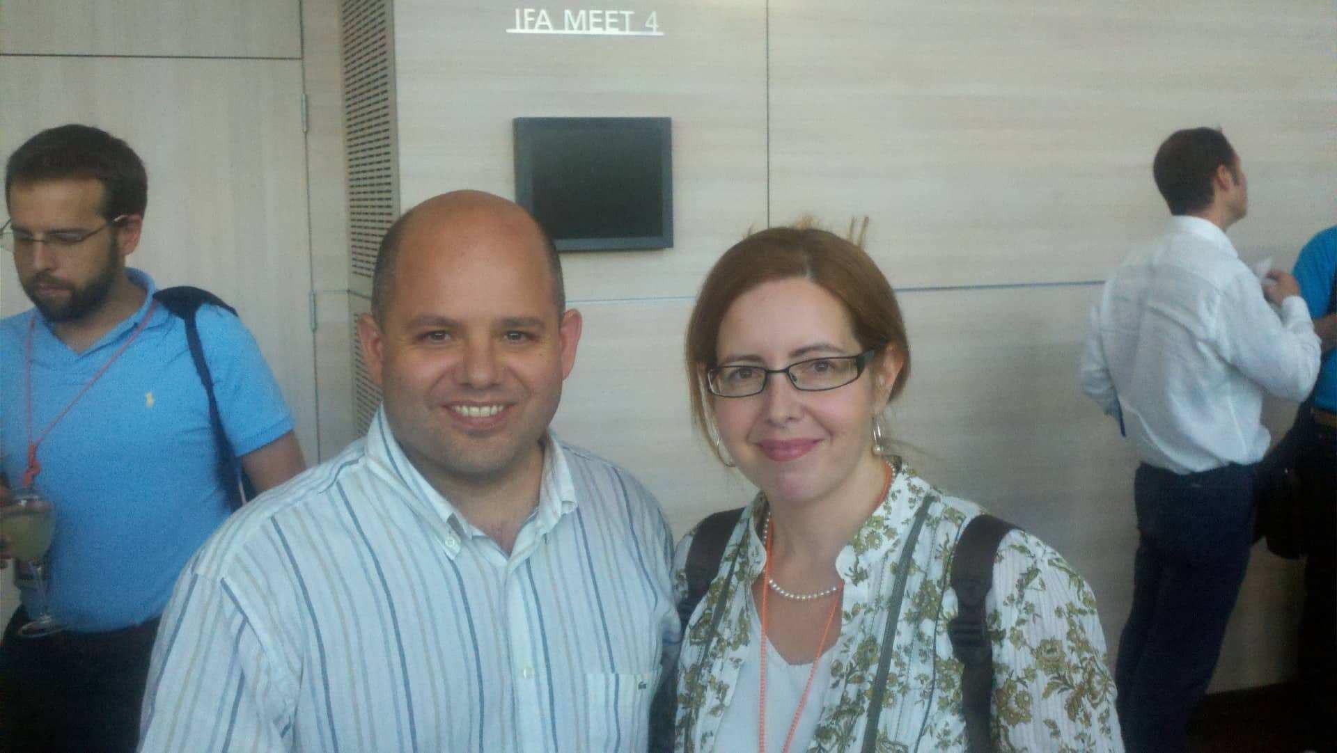 Con Montserrat Peñarroya