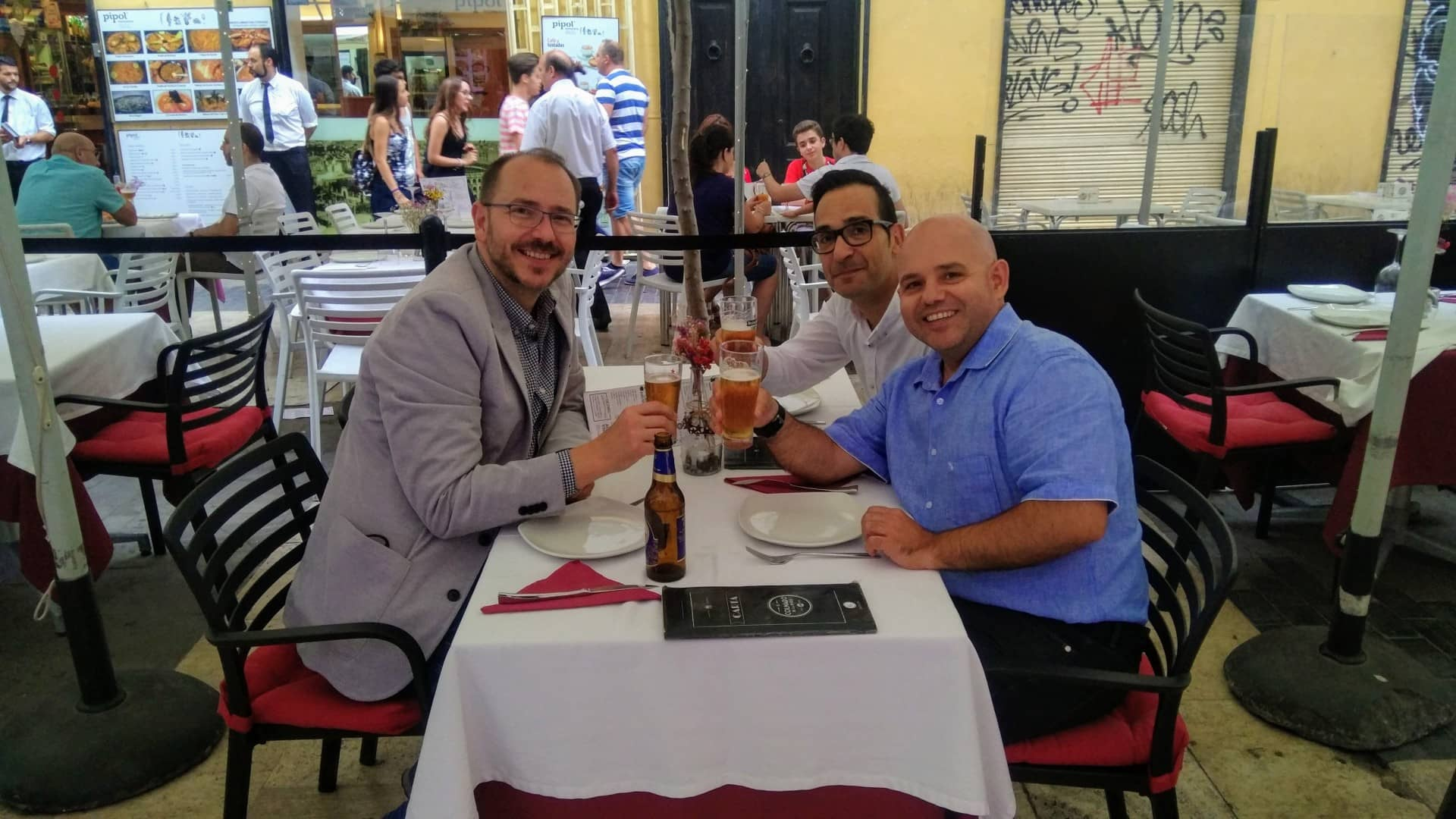 Con Cristobal Fernández y Alexis López