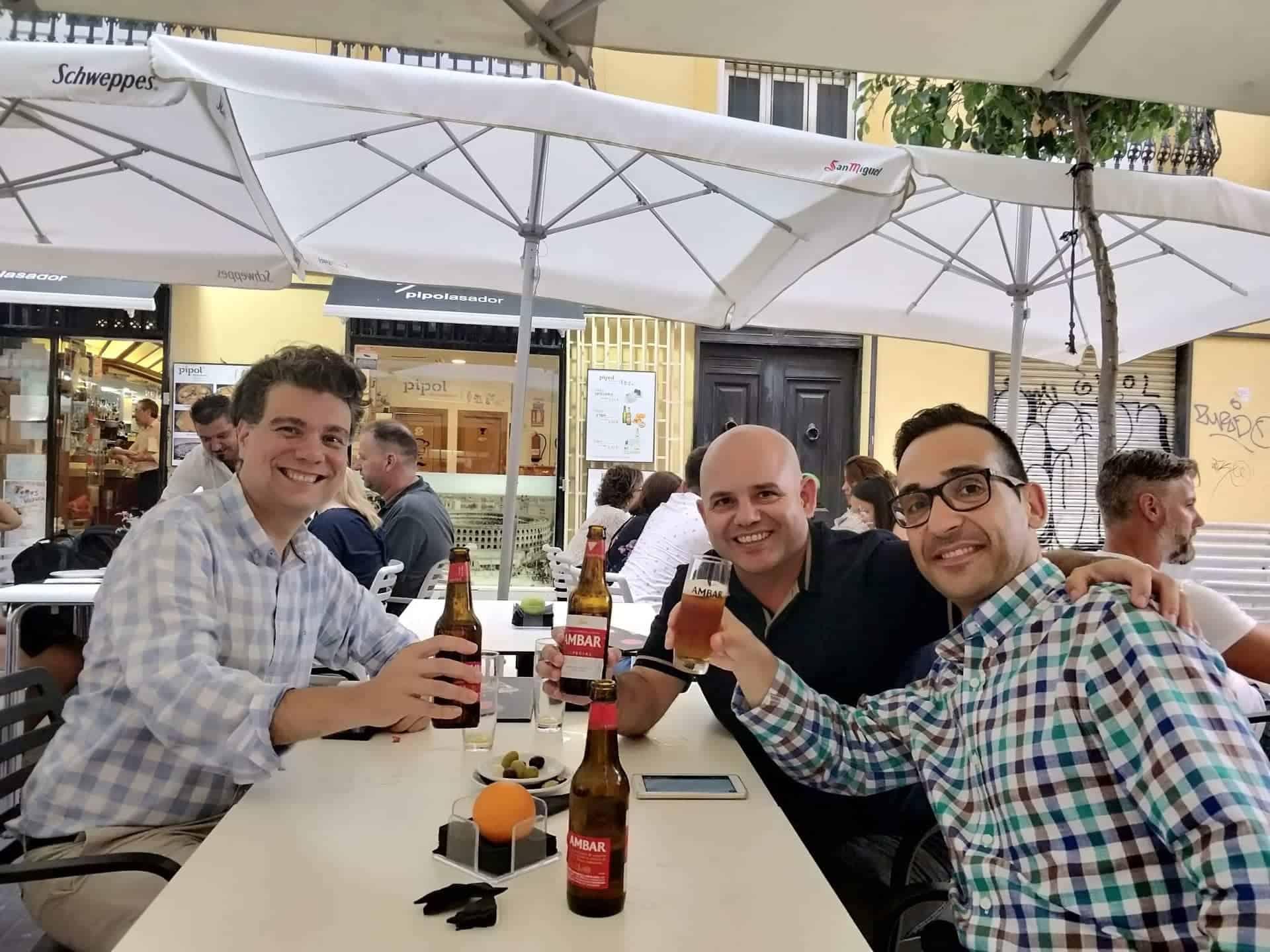 Con Juanan Roncero y Alexis López