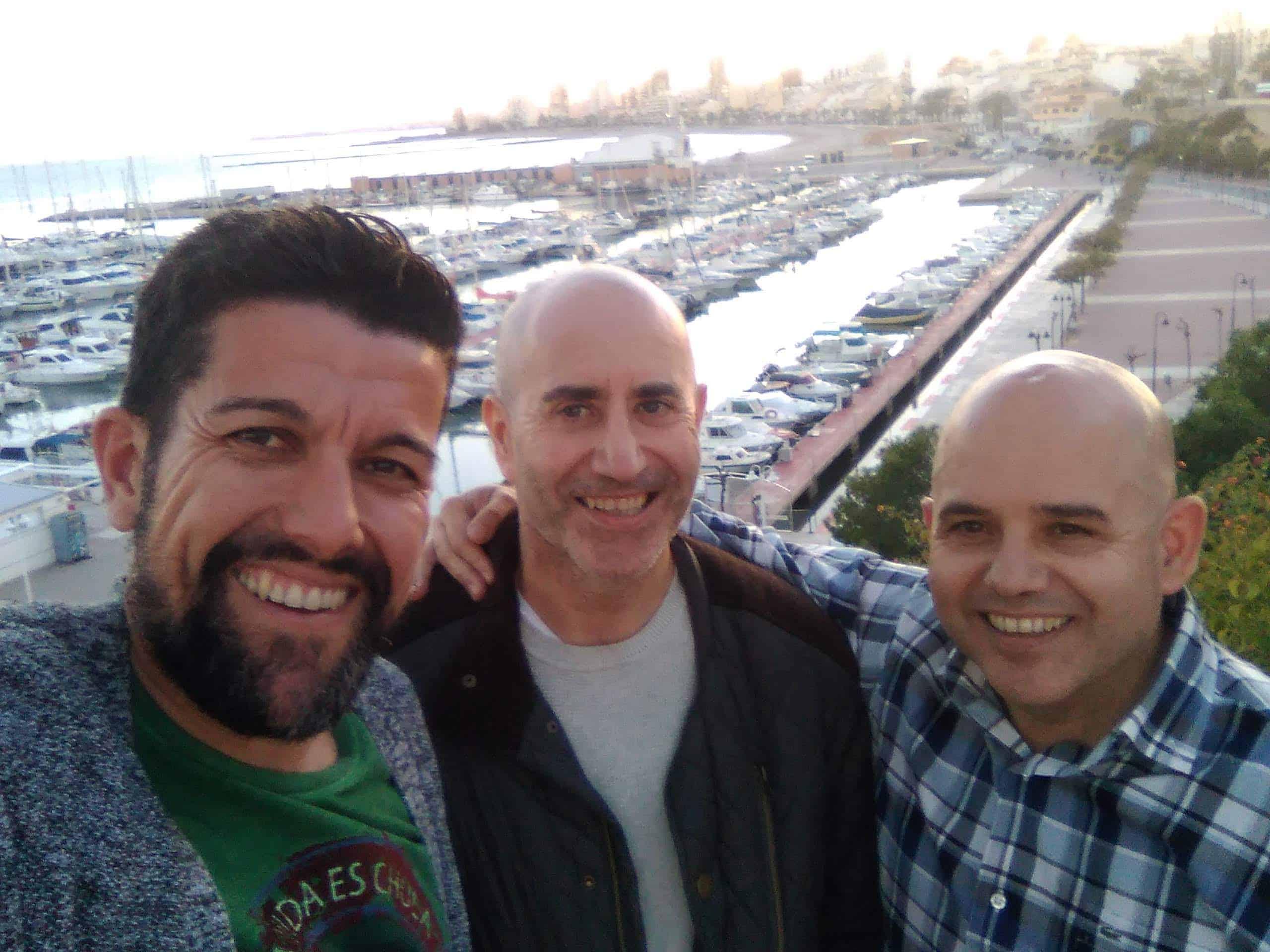 Con Sergio Simarro y Óscar Abad