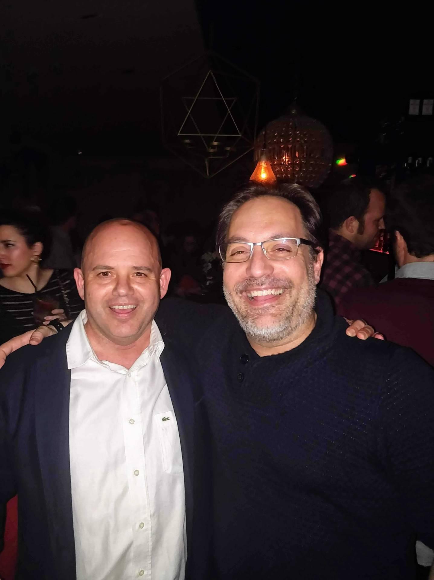 Con David Zaragoza
