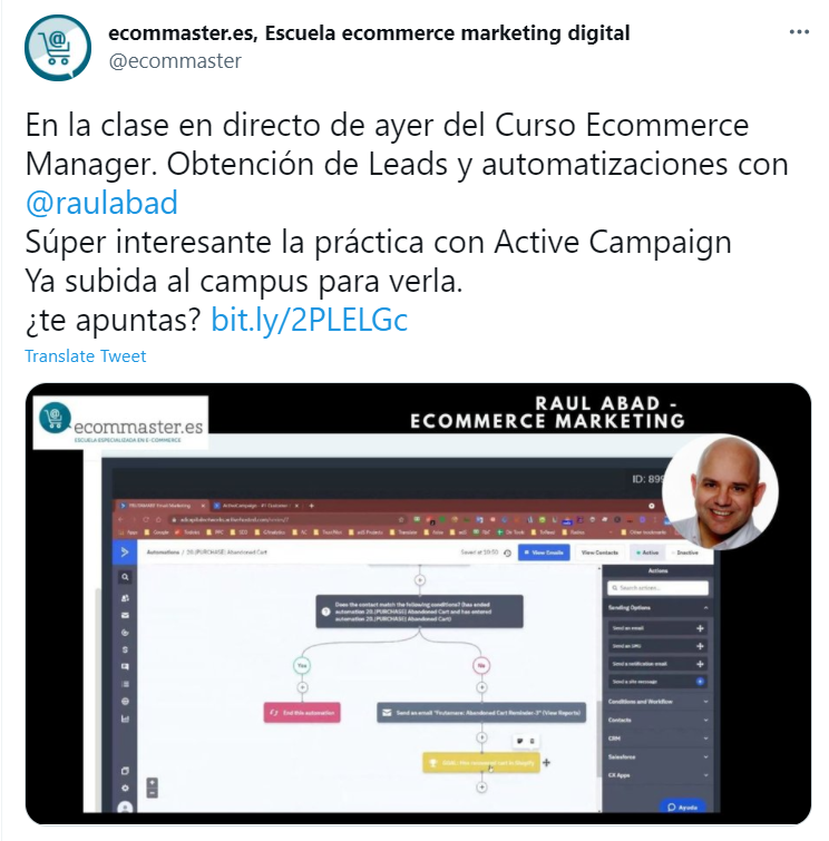 Ecommaster Clase Online