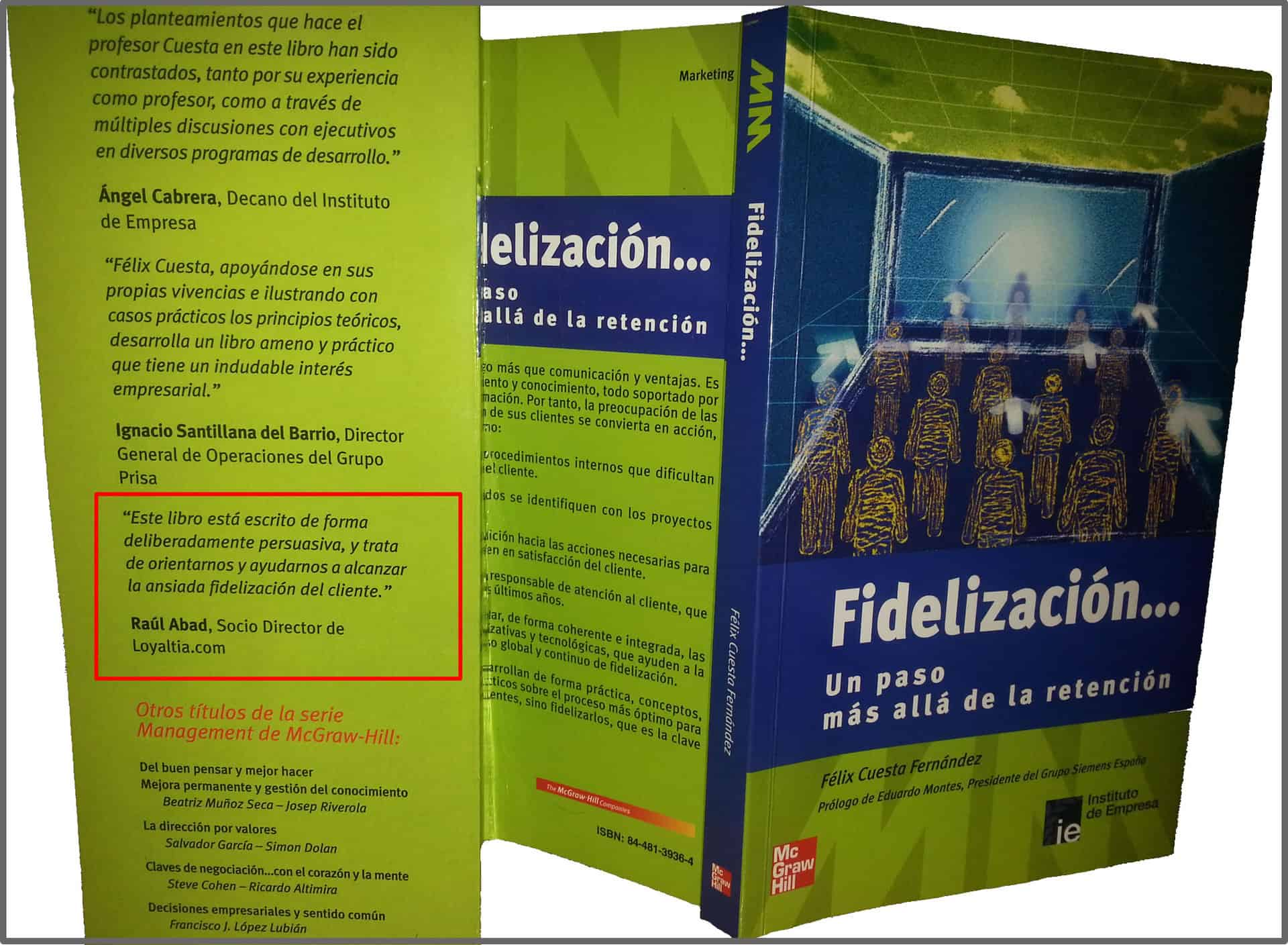 Libro Fidelización, más allá de la Retención
