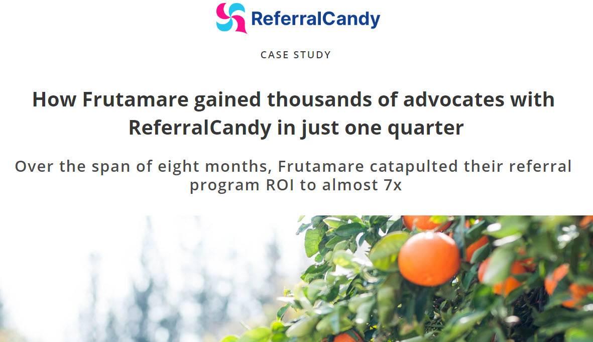 Entrevista de Raúl Abad para ReferralCandy sobre el eCommerce Frutamare.com