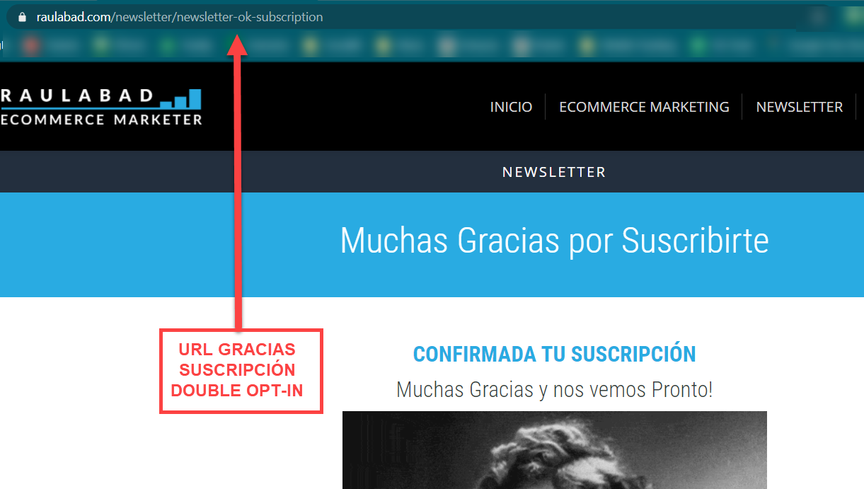 Cómo crear una Custom Conversion para registro suscriptores de una newsletter en G4 (Google Analytics)
