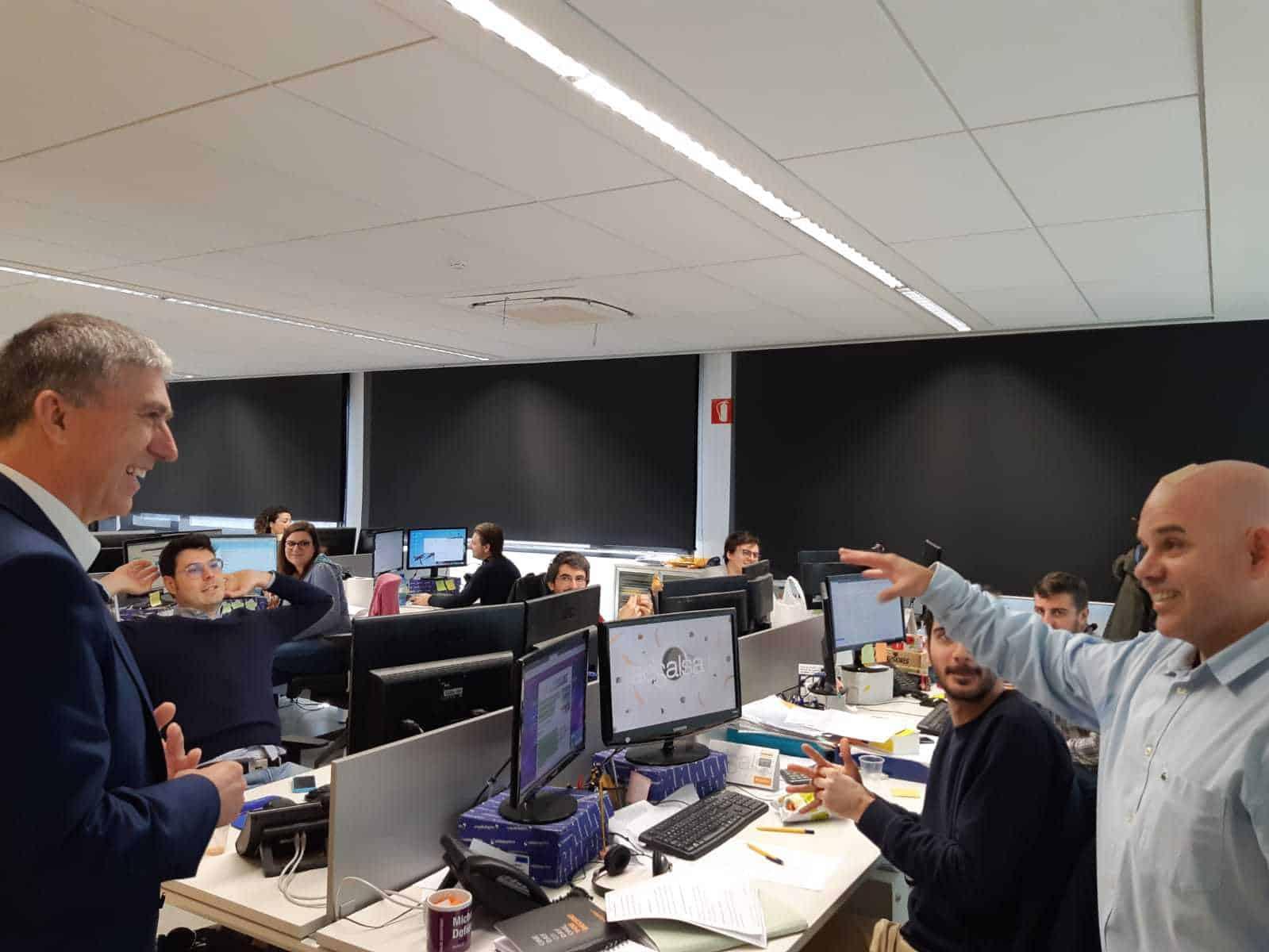 Visita Conseller Economía Generalitat Valenciana a adSalsa